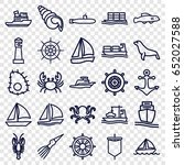 marine icons set. set of 25... | Shutterstock .eps vector #652027588