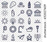 light icons set. set of 25... | Shutterstock .eps vector #652027609