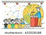 vector illustration orator... | Shutterstock .eps vector #652028188