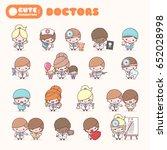 cute chibi kawaii characters... | Shutterstock .eps vector #652028998