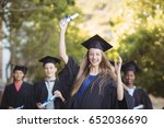 graduate school kids standing... | Shutterstock . vector #652036690