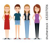 standing people set | Shutterstock .eps vector #652037056