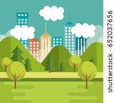city buildings design | Shutterstock .eps vector #652037656