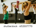 total body fitness group... | Shutterstock . vector #652037770