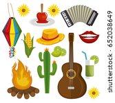 festa junina design   Shutterstock .eps vector #652038649