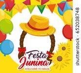 festa junina design | Shutterstock .eps vector #652038748