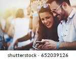 friends having fun outdoors and ...   Shutterstock . vector #652039126