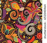 paisley floral seamless pattern.... | Shutterstock .eps vector #652040464