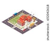 isometric illustration of... | Shutterstock . vector #652042618