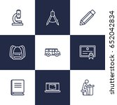 set of 9 education outline... | Shutterstock .eps vector #652042834
