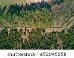 drone aerial view of juniper... | Shutterstock . vector #652045258