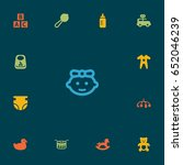 set of 13 child icons set... | Shutterstock .eps vector #652046239
