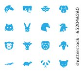 set of 16 alive icons set... | Shutterstock .eps vector #652046260