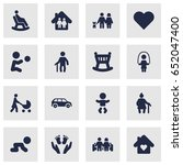 set of 16 people icons set... | Shutterstock .eps vector #652047400