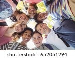 portrait of smiling school kids ... | Shutterstock . vector #652051294