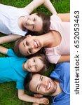 happy family outdoors  | Shutterstock . vector #652053463
