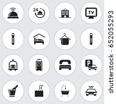 set of 16 editable hotel icons. ...