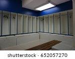 soccer locker room | Shutterstock . vector #652057270