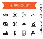 set of 12 editable business...