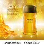cosmetic ads poster... | Shutterstock .eps vector #652066510