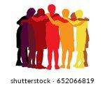 teamwork | Shutterstock .eps vector #652066819
