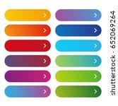 empty web button set vector | Shutterstock .eps vector #652069264