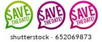 save the date icons. | Shutterstock .eps vector #652069873