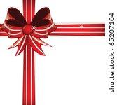 gift red bow. vector   Shutterstock .eps vector #65207104