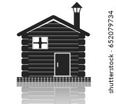 wooden house icon | Shutterstock .eps vector #652079734