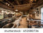 interior of restaurant pizzeria | Shutterstock . vector #652080736