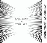 comic book speed lines. black...   Shutterstock .eps vector #652081669