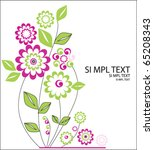 pink flowers in vector | Shutterstock .eps vector #65208343