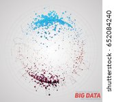 vector abstract round big data... | Shutterstock .eps vector #652084240