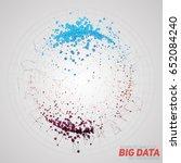 vector abstract round big data... | Shutterstock .eps vector #652084240