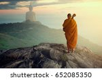 monk faith religion  monk... | Shutterstock . vector #652085350