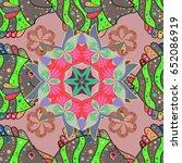 background. colored mandalas...   Shutterstock .eps vector #652086919
