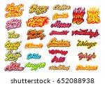 fast food lettering kit.... | Shutterstock .eps vector #652088938