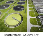 sewage farm. static aerial... | Shutterstock . vector #652091779