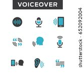 voiceover or voice command icon ... | Shutterstock .eps vector #652092004