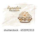 ramadan kareem iftar party... | Shutterstock .eps vector #652092313