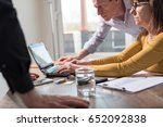 business people working... | Shutterstock . vector #652092838