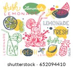 hand drawn doodle summer... | Shutterstock .eps vector #652094410