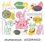 hand drawn doodle summer... | Shutterstock .eps vector #652094410