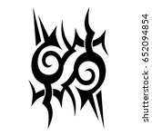 tribal tattoo art designs.... | Shutterstock .eps vector #652094854