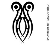 tribal tattoo art designs.... | Shutterstock .eps vector #652094860