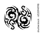 tribal tattoo art designs.... | Shutterstock .eps vector #652094998