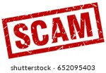 square grunge red scam stamp | Shutterstock .eps vector #652095403