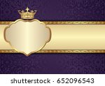 antique background with royal... | Shutterstock .eps vector #652096543