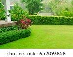 landscape formal  front yard is ... | Shutterstock . vector #652096858