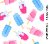 seamless sweet pattern with... | Shutterstock .eps vector #652097083